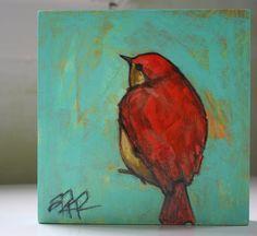 bright bird original a2n2koon painting wall fine art by a2n2koon