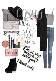 """""""Untitled #15"""" by cata13mota on Polyvore featuring Rika, rag & bone, Topshop, Charlotte Russe, Acne Studios, MAC Cosmetics, Smashbox, Milani, Maybelline and Maison Michel"""