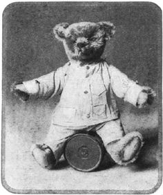 The Teddy Bear gained worldwide popularity, taking its name from Teddy Roosevelt after TR spared a bear cub's mother. (Reprinted from Ladies Home Journal, 1907.)