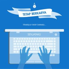 Keep On Trying..,  #flat #design #blue #karya #Indonesia #purpose