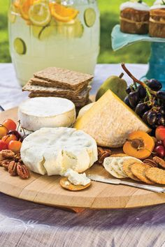 Local Cheese Assortment - Farm-Fresh Easter Menu - Southernliving. Tempt guests' palates with a display of local or regional cheeses and a variety of crackers and breads.