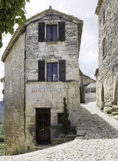 The old bakery in Lacoste, it now houses the SCAD Lacoste library. - they could not get any cooler.
