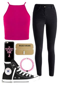 """""""think pink."""" by amazinggrace31 ❤ liked on Polyvore featuring Casetify, Converse, women's clothing, women's fashion, women, female, woman, misses and juniors"""