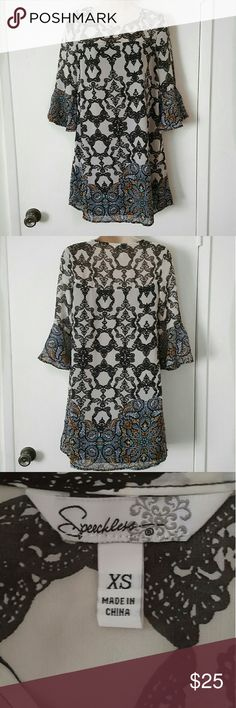 Boho Dress with Bell Sleeves Size XS New without Tag Lightweight Speechless Dresses Mini