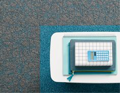 Desso Transitions Carpet: Salt/Rock - subtle colour accents with outspoken and vibrant tones.