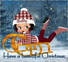 JUST HAVE SOME FUN THIS WINTER, GET OUT, IN THE SNOW & PLAY...CHILD, BETTY BOOP