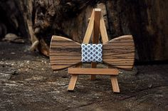 Christmas gift Wooden bow tie. Zebra wood bowtie. 8 wood type to choose .  Jules Verne store
