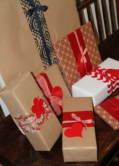 Kraft paper wrapping with scraps