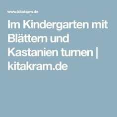 Im Kindergarten mit Blättern und Kastanien turnen | kitakram.de