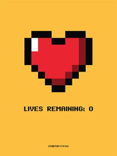 "Poster ""Lives Remaining: Zero"""