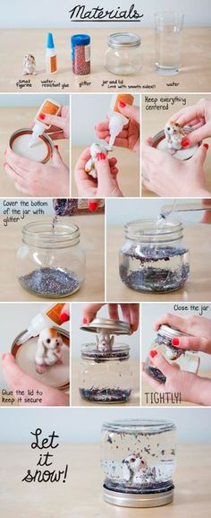 DIY Snow Globe diy diy ideas diy crafts do it yourself diy tips diy images do it yourself images diy photos diy pics diy snow globe fun gifts it yourself decorating ideas handmade Kids Crafts, Cute Crafts, Crafts To Do, Craft Projects, Craft Kids, Easy Diy Crafts, Craft Tutorials, Holiday Crafts, Christmas Crafts