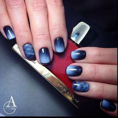 Beautiful dark nails, Beautiful evening nails, Beautiful gradient nails, Beautiful nails 2017, Color transition nails, Fashionable gradient nails, Gradient nail art, Ideas of gradient nails