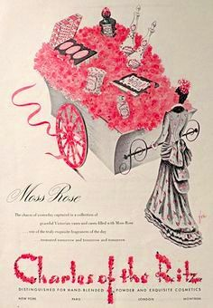 Charles of the Ritz 'Moss Ross' Fragrance Ad, 1945