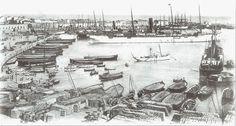 Puerto de Valencia (1900). Archivo J. Huguet