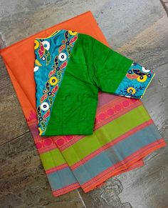 - 4 Online Boutiques That Sells Best Handloom Sarees Saree Blouse Neck Designs, Simple Blouse Designs, Stylish Blouse Design, Kutch Work Designs, Designer Blouse Patterns, Handloom Saree, Online Boutiques, Blouses, Kutch Work Saree