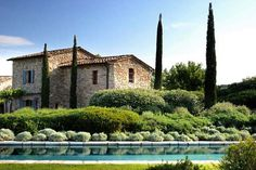 """""""This stunning yet charmingly rustic Italian villa is Col delle Noci (Walnut Hill) on the private estate of Castello di Reschio, run by Count Antonio Bolza and two generations of his family, in the lush Umbrian countryside. Italian Garden, Italian Home, Italian Villa, Style Toscan, Country Style, Landscape Design, Garden Design, Landscaping On A Hill, Villas In Italy"""