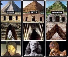 Above: No records exist of any contact between these civilizations. How, then, can we explain parallels like pyramid construction, corbel arches, and mummification????