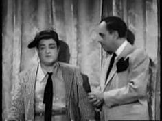 "Abbott and Costello perform the classic ""Who's on first?"" baseball sketch in their 1945 film ""The Naughty Nineties"" first performed as part of their stage ac. I Love To Laugh, Make Me Smile, Whos On First, Abbott And Costello, Classic Comedies, Classic Tv, Classic Movies, People Laughing, Old Tv Shows"