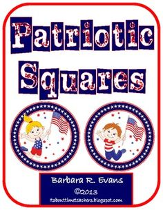 $  Patriotic Squares are great for critical thinking, problem solving, differentiation, & fast finishers. Great challenge for G/T and enrichment.  #LatinSquares  #differentiation #problemsolving #criticalthinking #math #enrichment #Gifted #BarbEvans #itsabouttimeteachers