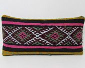 kilim pillow accent throw pillow lumbar pillow cotton cushion cover retro cushion cover throw pillowcase kilim pillow case pink pillow 26042