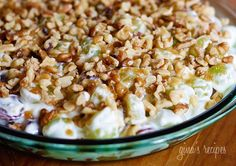 Creamy Grape Dessert | but with either vanilla yogurt & little to no vanilla extract OR plain yogurt.