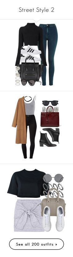 """""""Street Style 2"""" by andjelam1206 ❤ liked on Polyvore featuring Topshop, Balmain, Forever 21, Christian Dior, J Brand, Christian Louboutin, Yves Saint Laurent, NIKE, Givenchy and Acne Studios"""