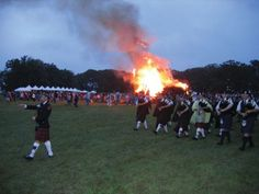 Lake Forest Open Lands - Bagpipes and Bonfire!
