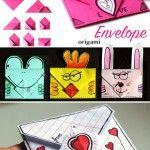 idea for Valentine. Envelope – origami