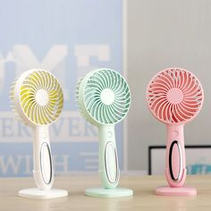 Cute Fan USB Mini Fan Color : Pink Necklace Fan Portable 5 Inch USB Fan Hands-Free Hanging Fan Powered by Rechargeable Battery with 3-Level Speed,Small Lazy Man Fan Home Decor