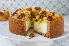 Tarta de queso con manzanas y nueces caramelizadas   L'Exquisit   Bloglovin'