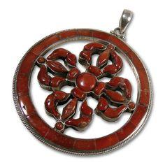 Medallion con doble Dorje, sìmbolo del Budismo Tibetano