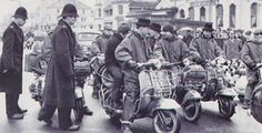 1960 mods at margate, scooter and parkas