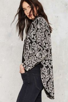 Nasty Gal Outlaw Embroidered Tailcoat Jacket | Shop Clothes at Nasty Gal!