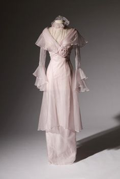 Re-creation of dress worn by Audrey Hepburn as Eliza Doolittle in My Fair Lady (Warner Brothers, 1964), Designer: Academy Award-Winner Cecil Beaton. From the collection of Gene London.