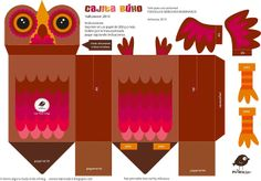 FREE printable box owl milanesa (with tutorial in spanish)