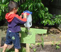 Gardening Activities for Children  #scarecrow #recycle #milkbottle
