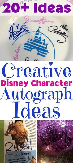 What Will Disney Characters Autograph? Creative Ideas What will Disney Characters sign? Here are ideas for collecting your favorite Disney Character autographs. Disney World Florida, Walt Disney World Vacations, Disney Parks, Disney Travel, Family Vacations, Disney World Tips And Tricks, Disney Tips, Disney Food, Disney Ideas