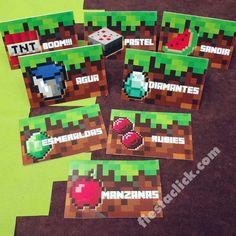 Minecraft Tarjetas para Mesa de dulces