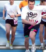 """River to River Relay - Annual Southern Illinois Race  Teams of 8 runners compete on an 80-mile course.  """"All uphill"""""""