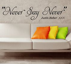 HUANYI NEVER SAY NEVER Justin Bieber Wall Sticker WALL QU... https://www.amazon.com/dp/B00W9Z0EFK/ref=cm_sw_r_pi_dp_x_Mr9iyb3TQP4AQ