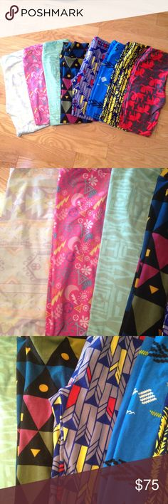 💕8 LuLaRoe OS Leggings Bundle Lot💕 💕8 LuLaRoe OS Leggings Bundle Lot💕 Size OS Includes a Valentine's Cupid print!!  All in great condition- no piling LuLaRoe Pants Leggings