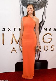 Mandy Moore hit the red carpet at the 2017 NAACP Image Awards on February 11, 2017