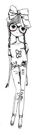 draw, friend black, sister illustr, quirky girl illustration, art, illustr sister, fashion girl, fashion illustrations, inspir illustr