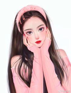 Cartoon Girl Images, Cute Cartoon Girl, Cartoon Art Styles, Manga Kawaii, Manga Anime Girl, Kawaii Anime Girl, Pretty Anime Girl, Cool Anime Girl, Beautiful Anime Girl
