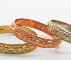 Moroccan gold wedding bands