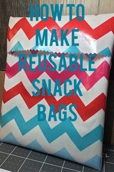I started making these reusable snack bags a few years ago and I love them!  They work well for most any snack. They fold over at the top like a classic sandwich bag.  After you have used it simply rinse it out and let it dry.  I've used them for years and they have held up well.  They also make cute gifts.  The bags are so quick to make that you can whip up lots of them if you need to take snacks for your child's class or sports team.  The tutorial I used to learn to make them is awesome…