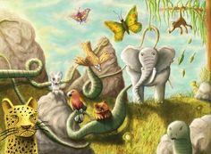 La Tierra está llena de paisajes hermosos, pero ¿sabes cómo se crearon los ecosistemas? Dinosaur Stuffed Animal, Painting, Art, Zebras, Ducks, Polar Bears, Art Background, Painting Art, Kunst