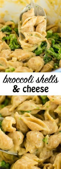 Broccoli shells & cheese - a great way to add veggies to dinner! #broccoli #shellsandcheese #vegetarian #meatless #recipes #macandcheese #healthy