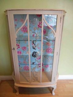 Shabby Chic Hand Painted Wooden Display Cabinet/Cupboard Painted in Annie Sloan                                                                                                                                                                                 More