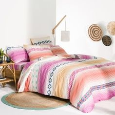 Brazos Cotton Duvet Cover La Redoute Interieurs - Duvet Covers